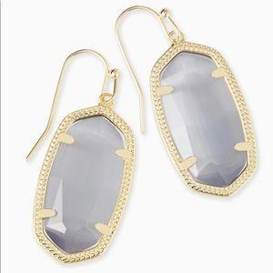 New Kendra Scott Dani Gold Earrings Slate Cats 👁